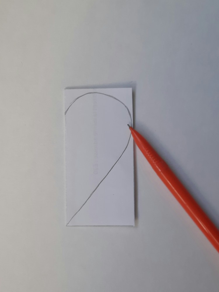 applique tutorial, drawing the heart