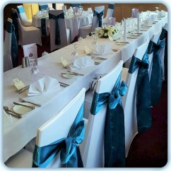 Teal Blue Chair Sashes Hans Wegner Covers And Amanda J Eventsamanda Events