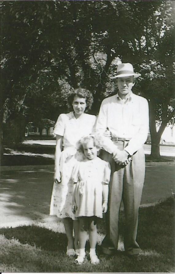My grandmother, grandpa & mother