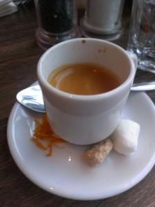 The perfect shot of espresso.