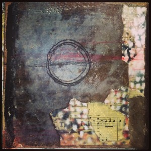 """""""Balance"""" from my wordless encaustic journal."""