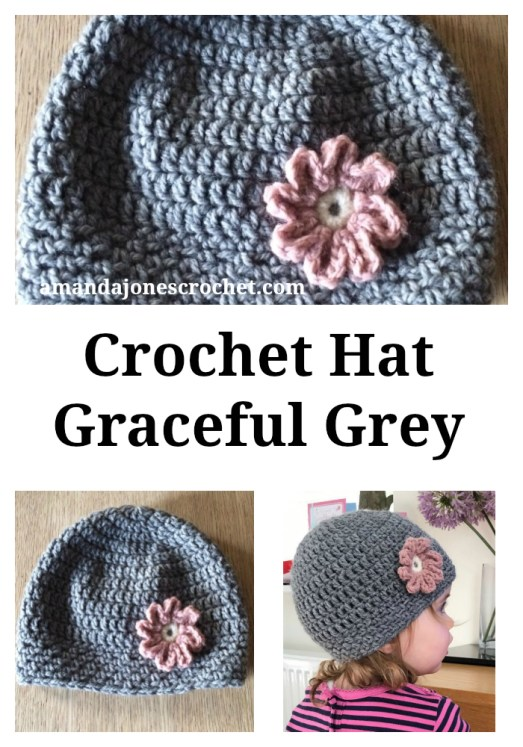Hat Graceful Grey Pin
