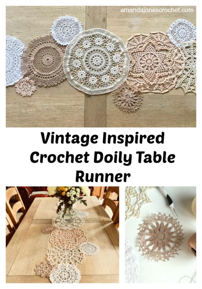 Vintage Inspired Crochet Doily Table Runner