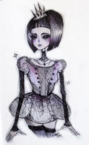 > creepy drawing