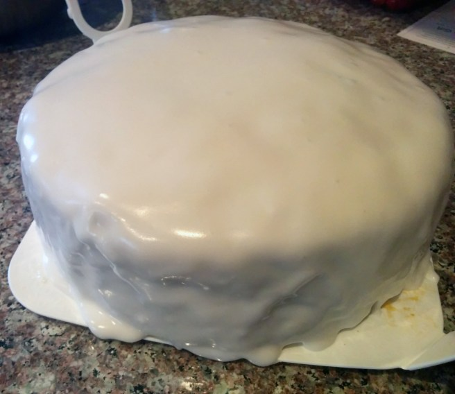 16. Make one more cup of icing and do the sides. Leave for 24 hours then do another coat.