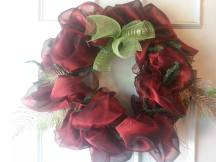Gorgeous and lush red holiday wreath $60