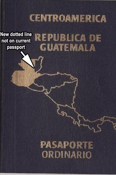 Guatemala passport map an affront to Belizeans  Amandala