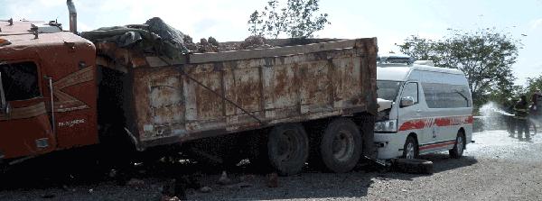 ajc---Dump-truck-and-Ambula