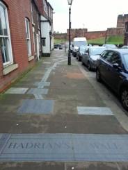 Hadrians Wall map on Castle Street