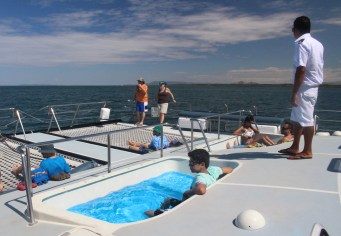 Pools on the catamaran - could get used to this life!