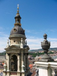 Views across Budapest from St Stephens Basilica