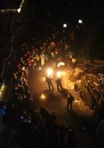 Fire juggling at WaldWipfelWig.