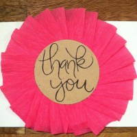 DIY: Girly Thank You Cards