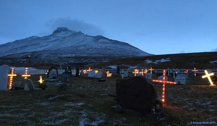Cemetery with Prophetess Mountain in the background