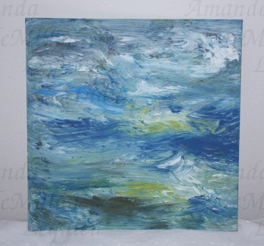"""Studies on the deep 1: acrylic on canvas board, 12X12""""; $30, SOLD"""