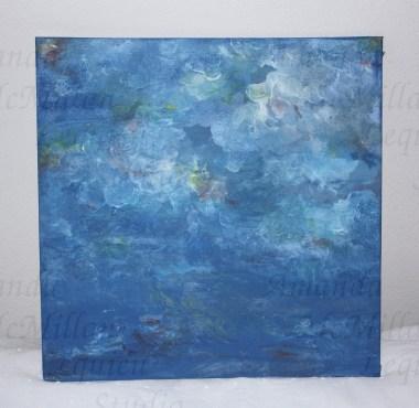 "Studies on the deep 2: acrylic on canvas board, 12X12""; $30"