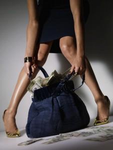 Woman Stealing Handbag full of Money
