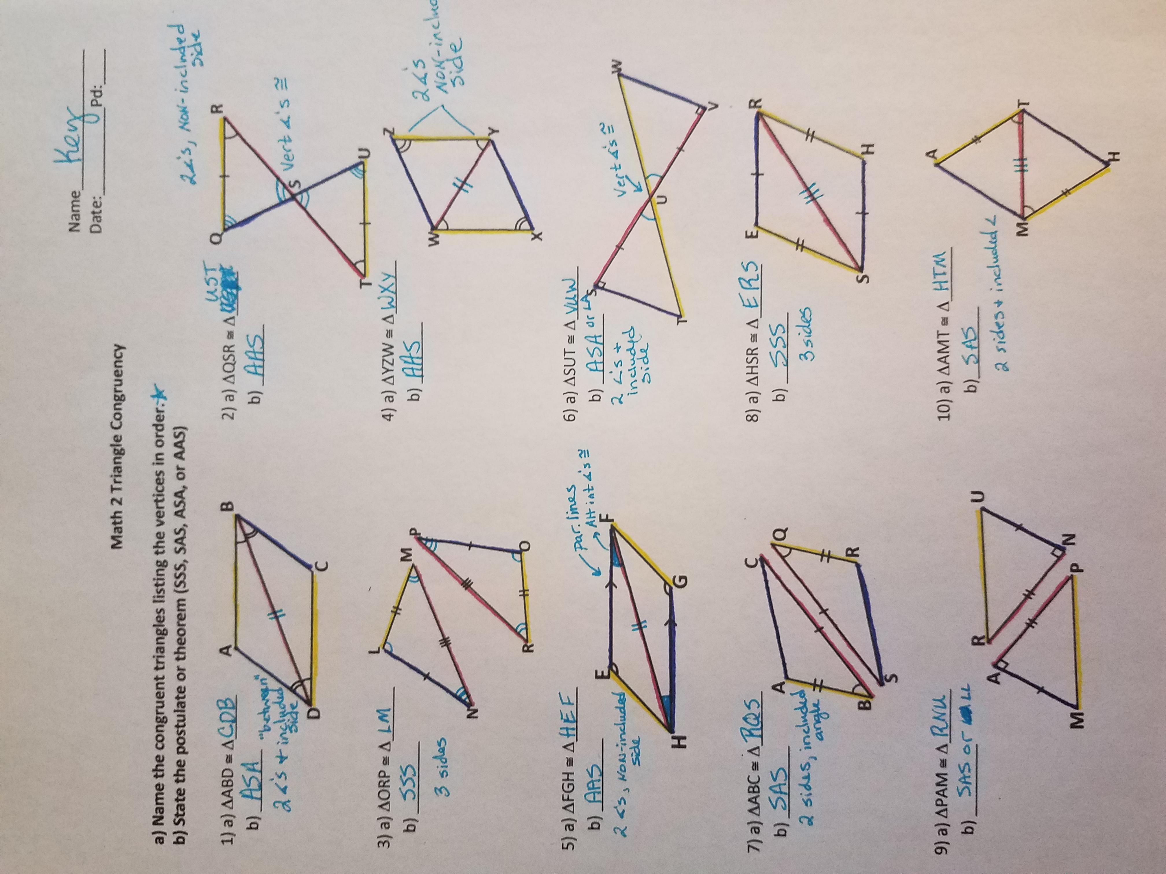 4 Triangle Congruence
