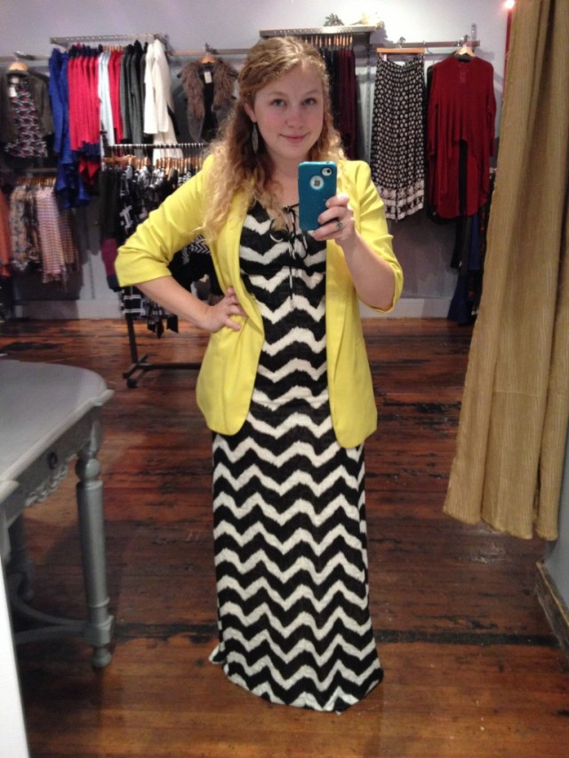 Chevron outfit of the day