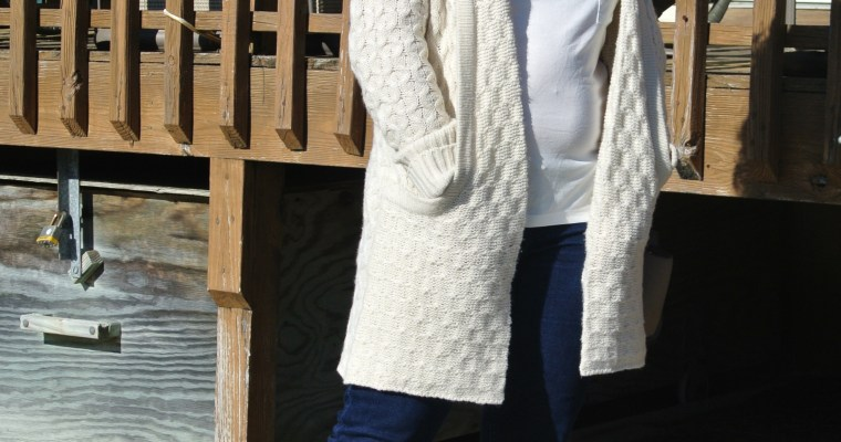 Comfy Cream Sweater Outfit of the Day