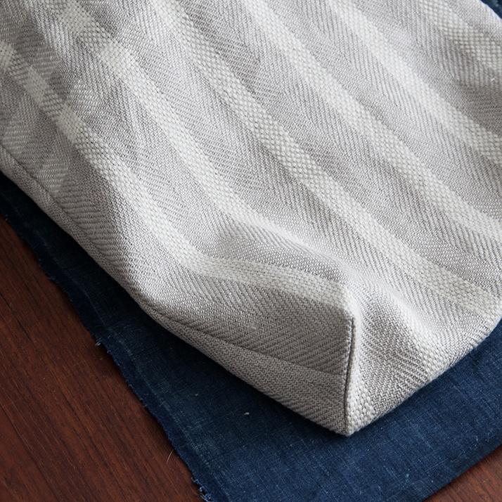 Linen Bread Bag weaving pattern box corner