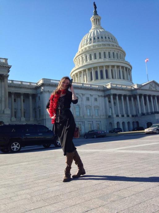 Madam Screenwriter at the U.S. Capitol