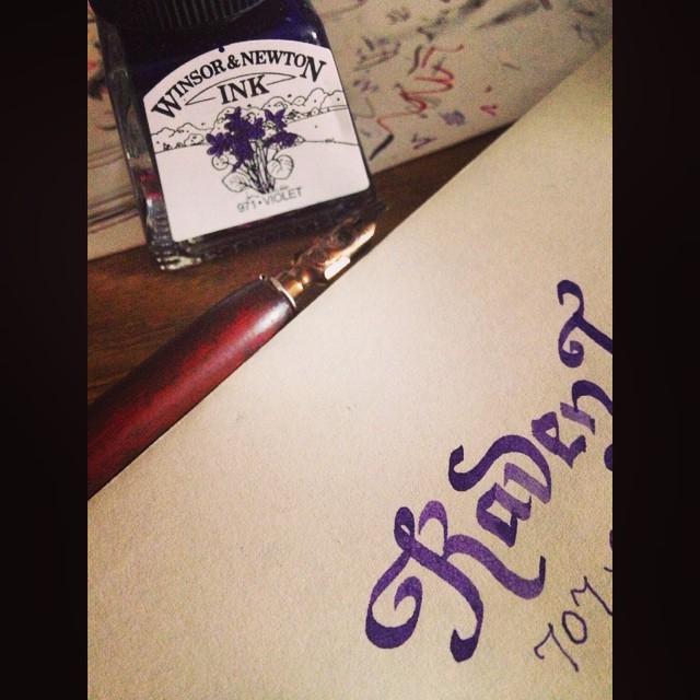 Envelope Calligraphy to Raven
