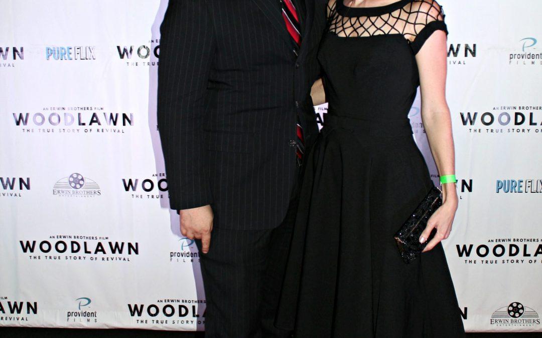 "Joshua Sheik and Amanda Read at the August 29th, 2015 premiere of ""Woodlawn"" in Birmingham, Alabama"
