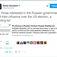 The Sources of Russian Conduct: Russian Reading List