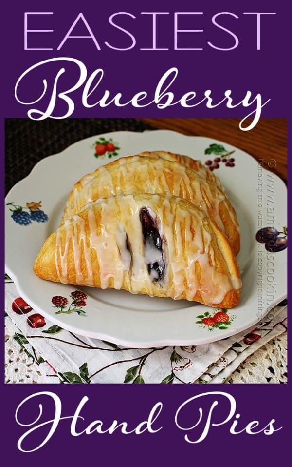 4 Ingredient Blueberry Hand Pies Amanda39s Cookin39
