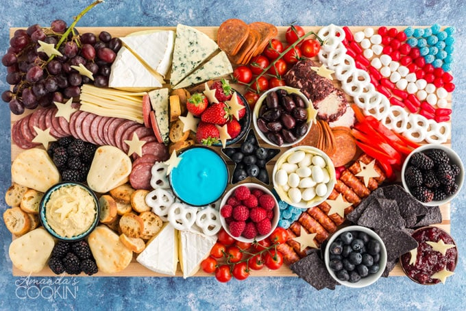 close up of cheese and fruit board