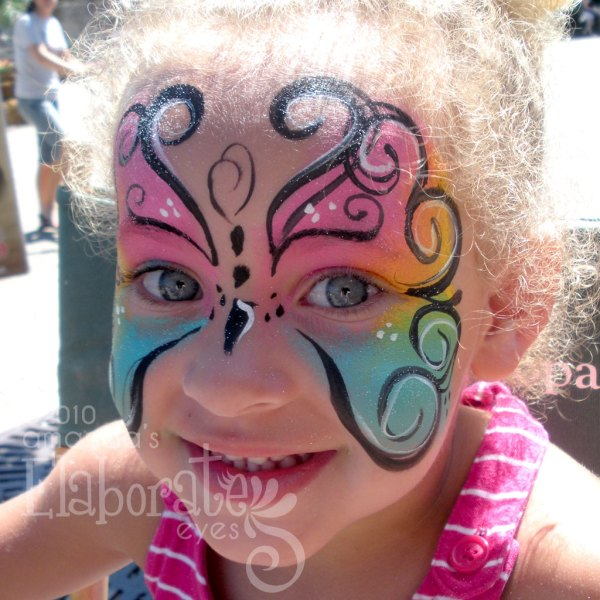 Pretty Faces Amanda' Elaborate Eyes Face & Body Painting