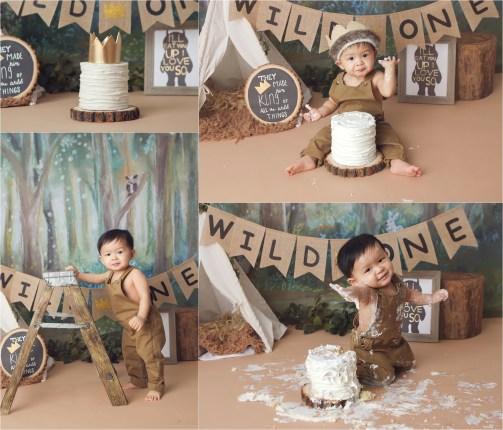 cake smash, orange county cake smash, 1st birthday, girl birthday, amanda skye photography, wild one cake smash