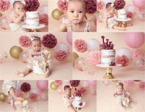 cake smash, orange county cake smash, 1st birthday, girl birthday, amanda skye photography