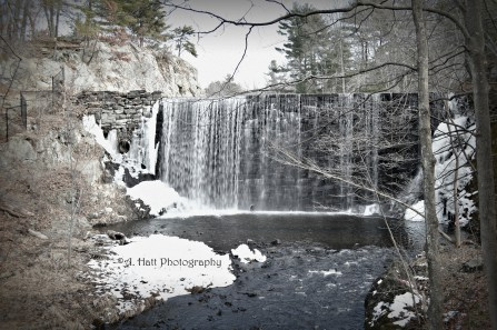 Waterfall at Puffer's Pond in Amherst, Massachusetts
