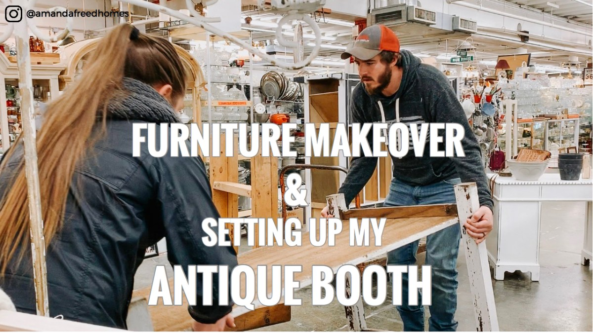 Antique Booth Makeover