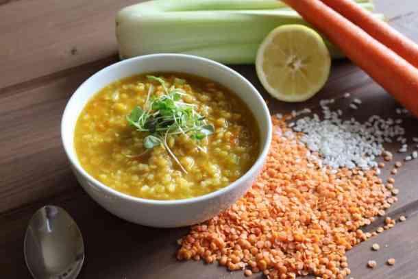Lebanese Lentil Soup, lentil soup, fall soup, vegetarian lentil soup
