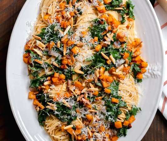 Butternut Squash and Arugula Pasta