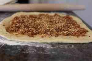 cinnamon roll dough, dough