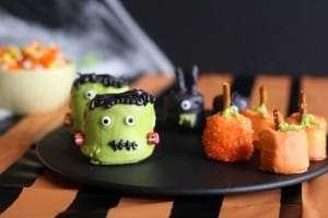 Halloween treats, marshmallow treats, easy chocolate treats