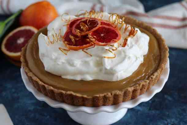 blood orange tart recipe, blood orange dessert