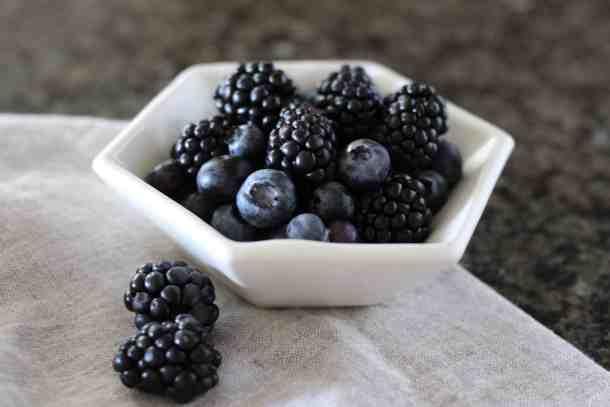 blueberries blackberries