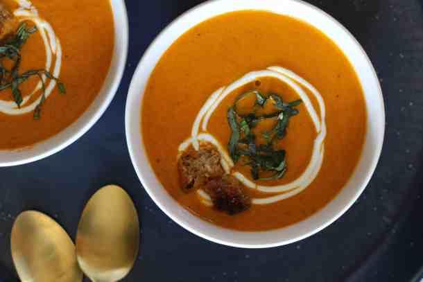homemade tomato soup amandas plate