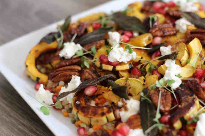 Roasted Delicata Squash & Couscous Salad