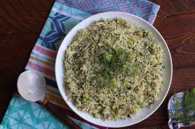 Persian Style Dill Rice Recipe