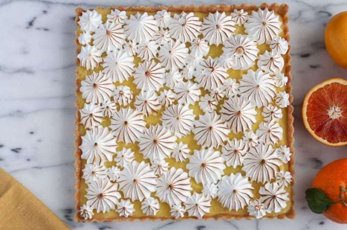 Lemon Tart + Meringue Topping