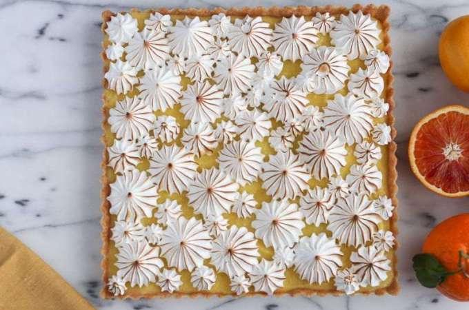 Lemon Tart + Meringue Topping