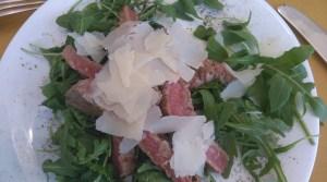 Steak and Parmesan Salad