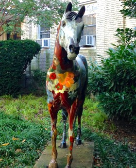 Painted Horse sculpture outside Roosevelt Hall - October 14, 2014