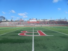 On the 50 yard line of Bloomfield High School's Foley Field // March 22,2017 // Bloomfield, New Jersey